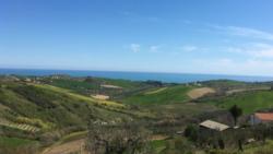Uitzicht vanaf Casa Cologna Abruzzo Vakantie