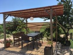 schaduwrijk terras van Casa Cologna Vakantie in Abruzzo