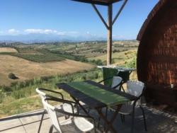 Wijnvat om in te slapen bij Casa Cologna Glamping vakantie in Abruzzo