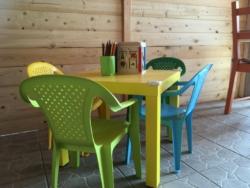 Kinderhoekje in de Bar van Casa Cologna Vakantie Abruzzo