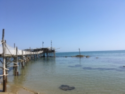 Trabocco in de buurt van Casa Cologna Abruzzo Vakantie
