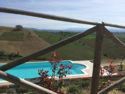 Het zwembad van Casa Cologna Vakantie Abruzzo