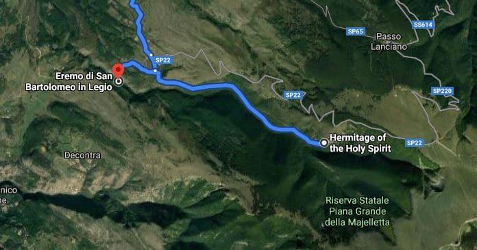 route eremo -eremo